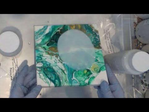 DecoArt Top Coat Application, Fluid Acrylics Pouring Finish, Varnish versus Resin