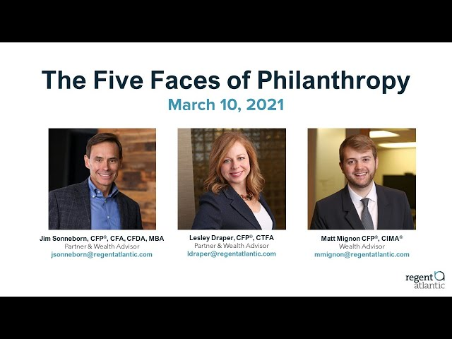 The Five Faces of Philanthropy