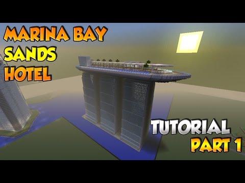 Minecraft Marina Bay Sands Hotel Tutorial Part 1 - XBOX/PS3/PC