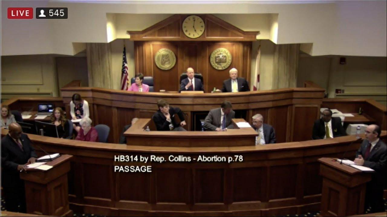 Alabama legislature votes to ban most abortions