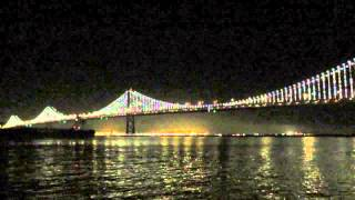 The Bay Lights San Francisco-oakland Bay Bridge California (february 2015) [timelapse]