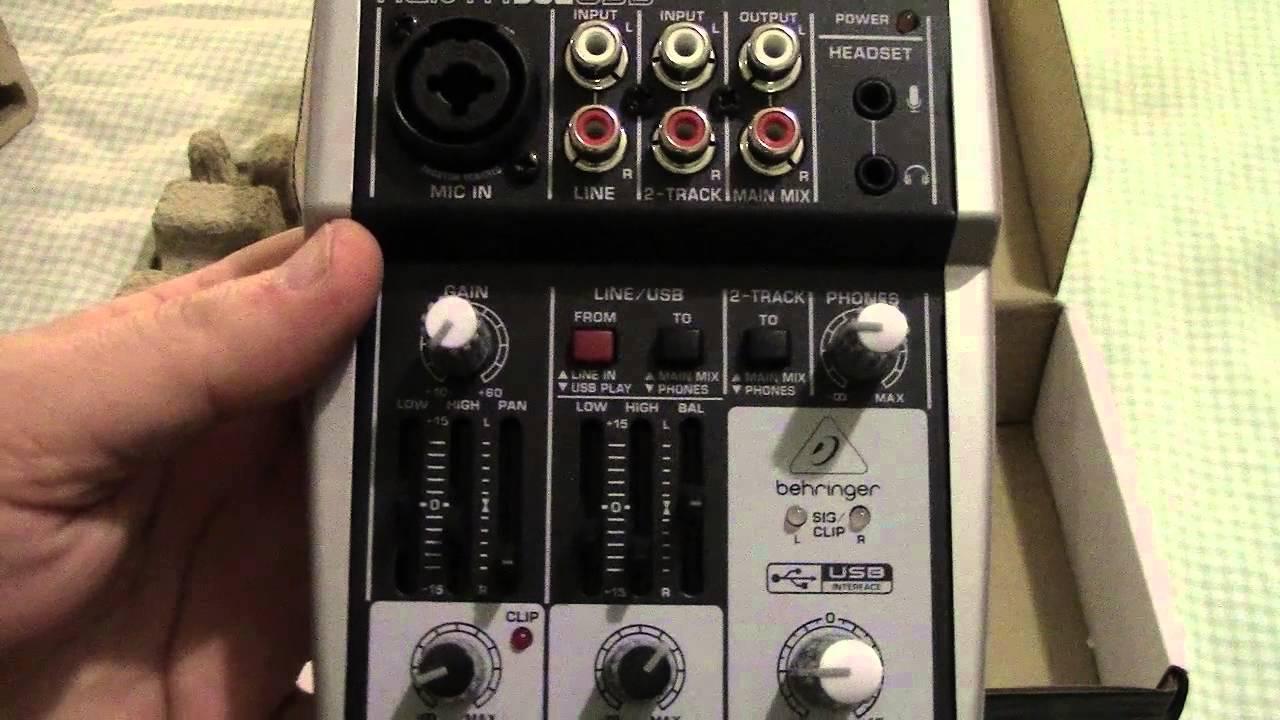 behringer xenyx 302usb portable sound mixer unboxing youtube. Black Bedroom Furniture Sets. Home Design Ideas