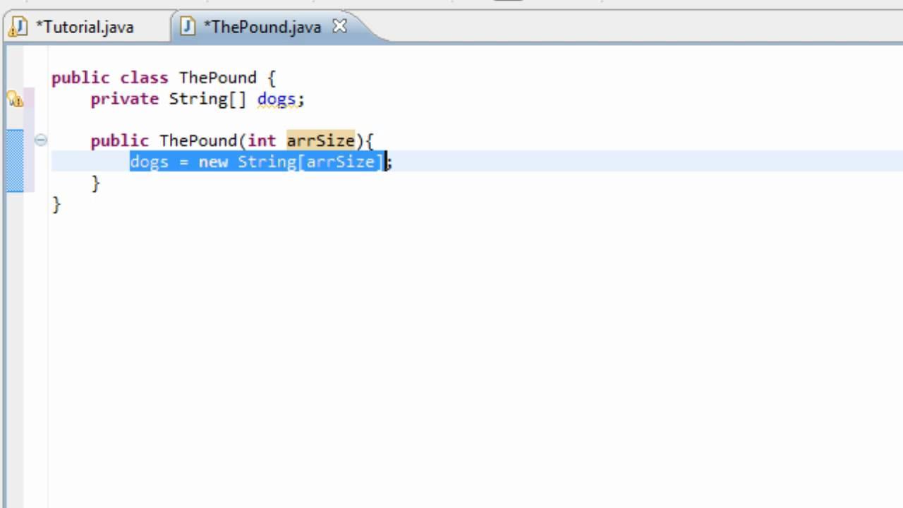 Java tutorialcont 1 arrays as private properties youtube java tutorialcont 1 arrays as private properties baditri Gallery