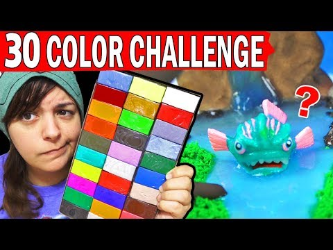 30 COLOR SCULPTURE CHALLENGE Fortnite Battle Royale Leviathan, Raven, Wukong Skin Polymer Clay