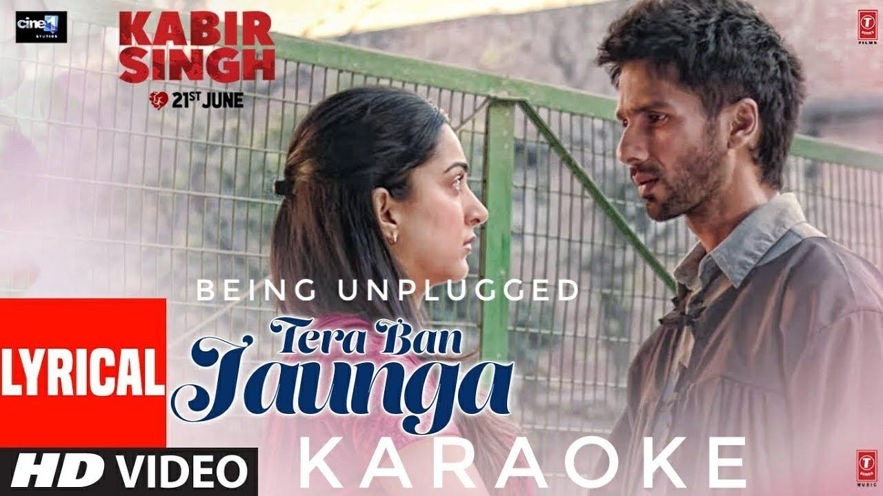 Kabir Singh : Tera Ban Jaunga || Karaoke || Acoustic Cover