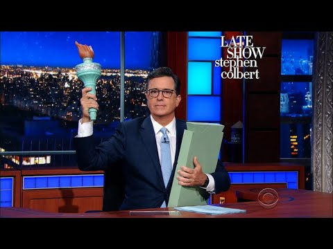 Colbert Vs. Miller: The Stephens Battle Over The Statue Of Liberty