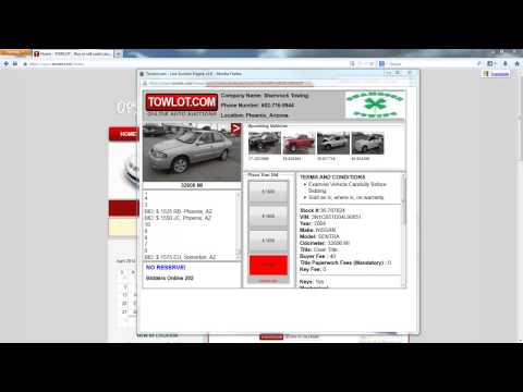 TowLot.com Online Auto Auction - Phoenix AZ - April 2014