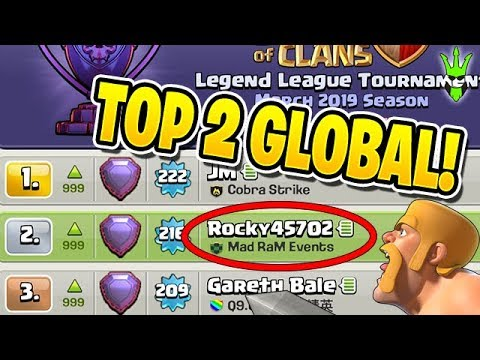 I'M RANKED NUMBER 2 GLOBALLY! - Clash Of Clans