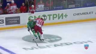 Селезнев расколол Дубровского / Seleznyov's huge and clean hit on Dubrovsky