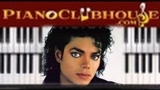 """♫ How to play """"MAN IN THE MIRROR"""" (Michael Jackson) - piano tutorial ♫"""