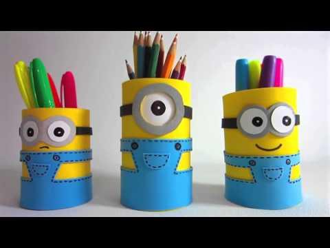 Kreatif Yuuk- Membuat Tempat Pensil Minion