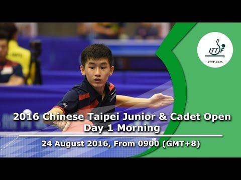 2016 ITTF Chinese Taipei Junior & Cadet Open - Day 1 Morning