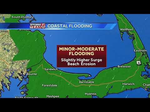 Moderate flooding possible along coast