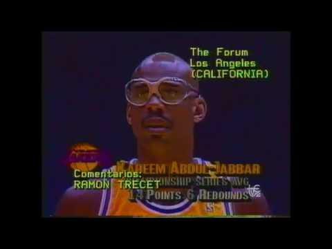 1989 NBA FINALS GAME4 DETROIT LAKERS