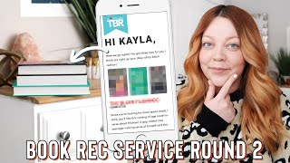 VLOG | using a book recommendation service again