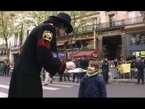 Inauguration de Michael Jackson à Grévin le 19 avril 1997
