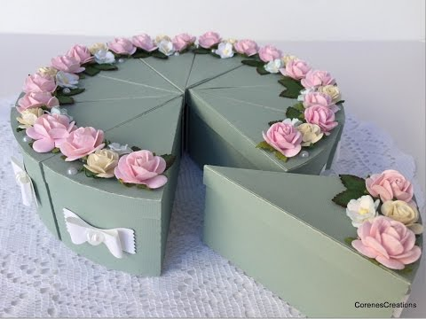 3d Cake Box Centerpiece~Wild Orchid Crafts