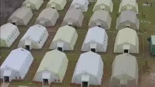 Военно-полевой госпиталь для больных коронавирусом под Алматы