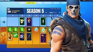 FORTNITE SEASON 5 *BATTLE PASS* TRAILS LEAKED! (THEME LEAKED)