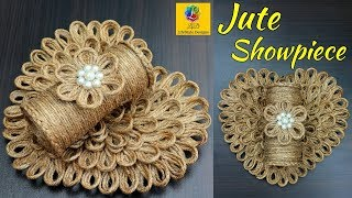DIY Wall Hanging Flower Vase with Jute Rope | Wall Decor Showpiece Making Using Jute Rope