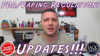 FDA/Vaping Regulations Update