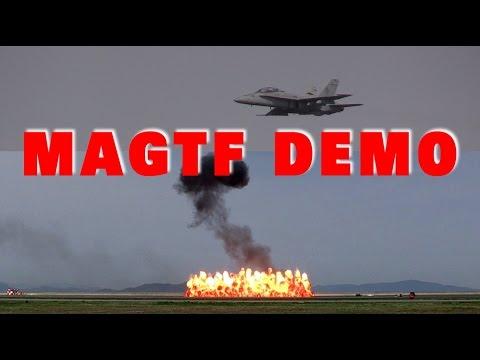 海兵隊の本気!!! F/A-18ホーネットが凄いぞ!!! MAGTF Demo 岩国基地フレンドシップデー2016