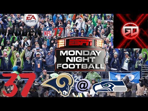 "Seattle Seahawks madden 17 franchise ""DEFENSE RULES INJURIES DROOL"". S2W12 LA@SEA"