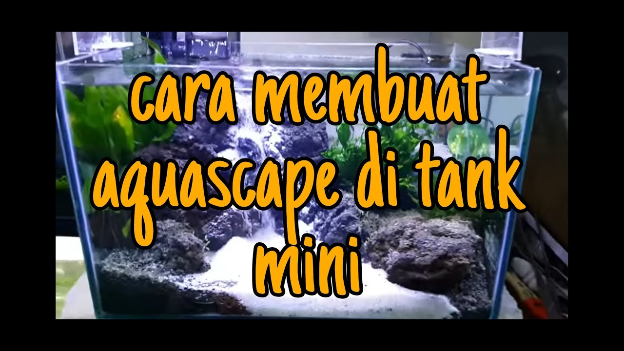Aquascape Waterfall 40cm - YouTube