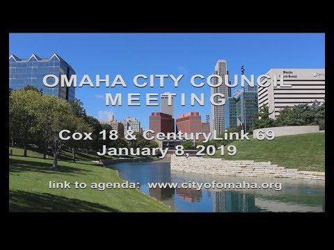 Omaha Nebraska City Council meeting January 8, 2019