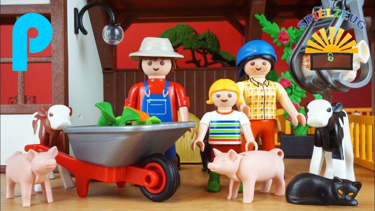 playmobil bauernhof 6120  country film familie kind tiere