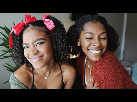 Only MIXED GIRLS have GOOD hair?! Holiday Hairstyle & Natural Hair Girl Chat!