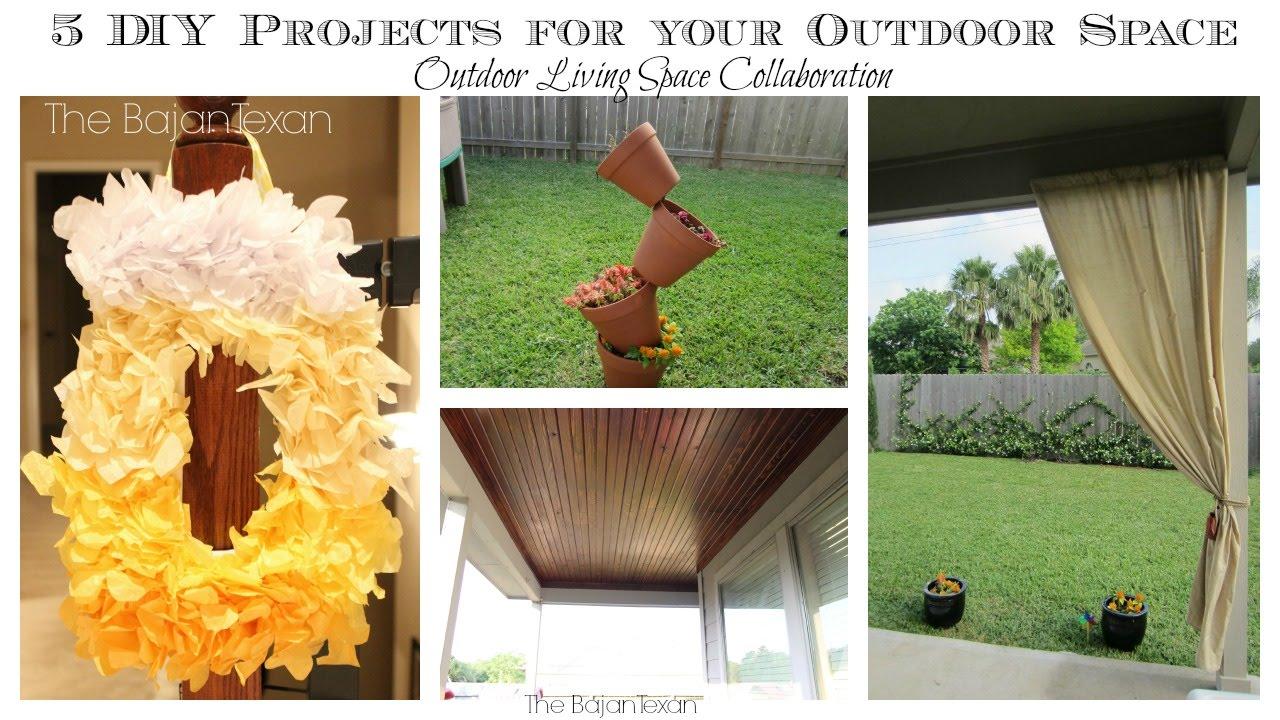 5 Cheap Easy Outdoor Space Diy Ideas Outdoor Living Space Youtube Collaboration The Bajan Texan