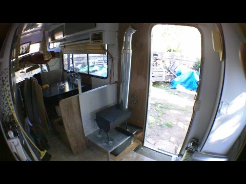 RV Wood Stove Install