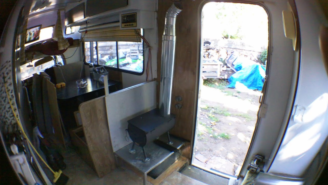 rv wood stove install youtube