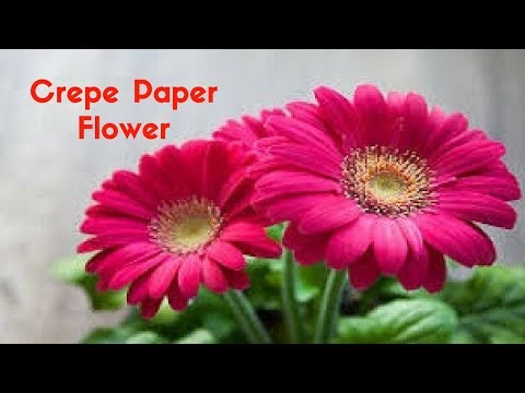 HOW TO MAKE CREPE PAPER FLOWERS FOR HOME DECORATION | HOME DECOR IDEAS