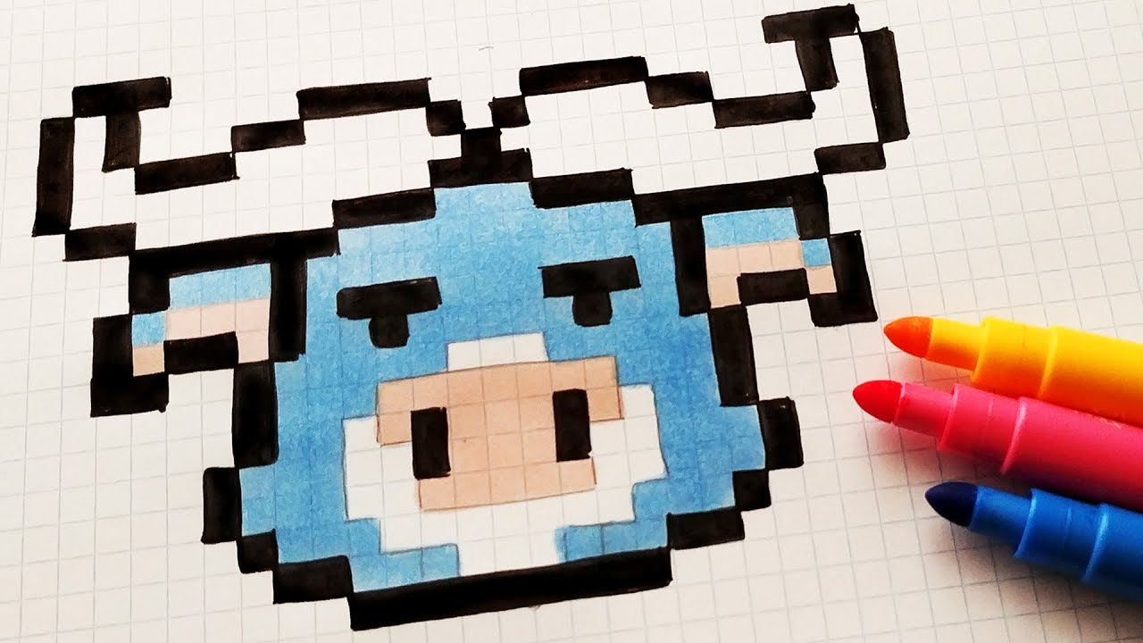 Handmade Pixel Art How To Draw Kawaii Bull Pixelart