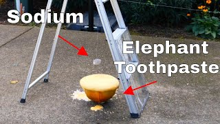 What Happens if You Drop Sodium Metal in Elephant Toothpaste? O2+H2=BOOM!