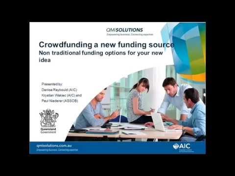 Crowdfunding as a New Funding Model Webinar