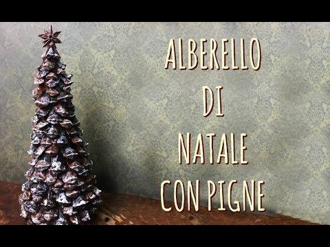 Lavoretti Di Natale Arte Per Te.Albero Di Natale Con Le Pigne Natale Riciclo Arte Per Te