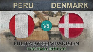 PERU vs DENMARK - Army Comparison - 2018 [FOOTBALL EDITION]
