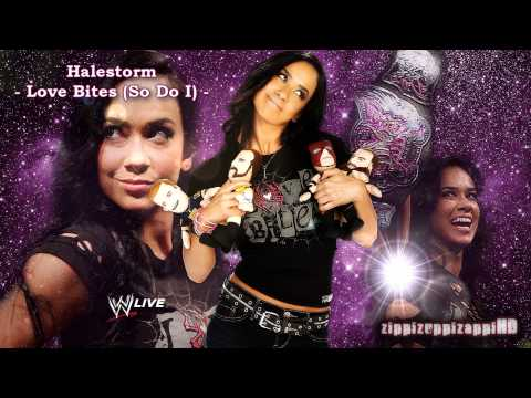 WWE: AJ Lee 1st Custom Theme Song | Halestorm -