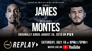 PBC REPLAY: Jamal James vs Mahonry Montes | Full Televised Fight Card