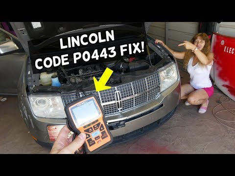 HOW TO FIX CODE P0443 EVAPORATIVE EMISSION SYSTEM PURGE CONTROL VALVE LINCOLN MKX MKS MKT MKZ