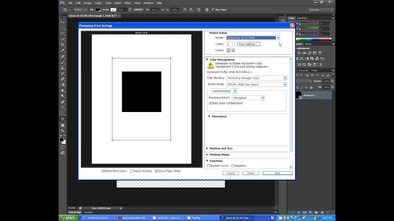 Configuring ICC Profiles on your Printer with Photoshop CS6 -