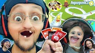Aquapark.io Challenge 🎮 Fgteev Lex 🆚 Duddy  Hot Sauce Loser