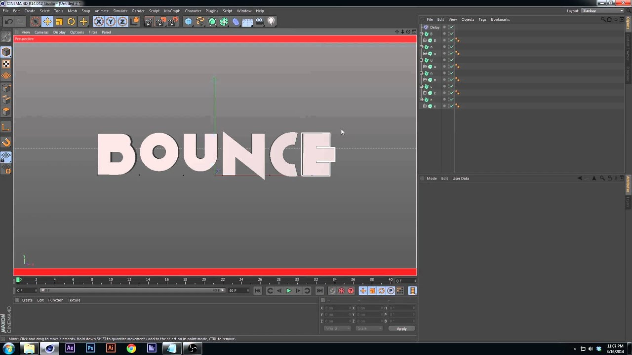 Tutorial : Springy Text in C4D