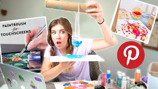 Artist Tests PINTEREST ART HACKS!