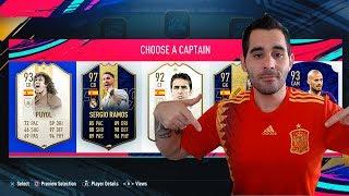 SÓLO ESPAÑA EN FUT DRAFT !!! LA FURIA ROJA EN FIFA 19