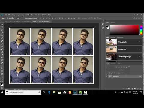 create passport size photos and stamp size photo simple method  Tamil 2018 photoshop cc 2018