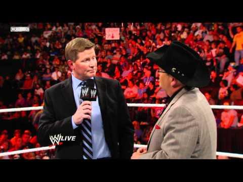 Raw - Interim GM John Laurinaitis fires Jim Ross